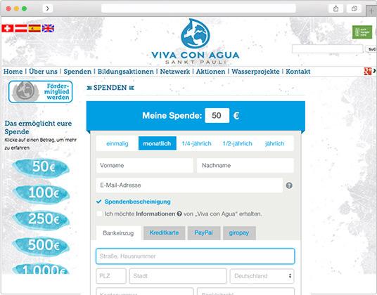 Screenshot viva con agua