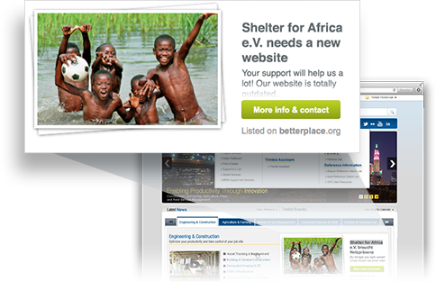 volunteer opportunity as a banner integrated in your own website