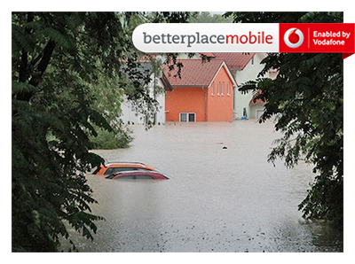 Hochwasser banderole klein