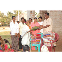 Fill 200x200 rev.john babu and his family distributed sarees and blankets for widows
